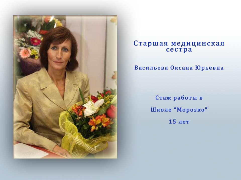 Васильева Оксана Юрьевна